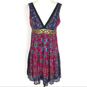 Nicole Miller Studio Silk Empire Waist Dress, 8